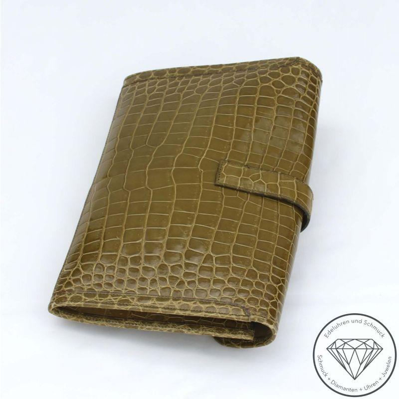 Hermès Jige Pochette Handtasche Krokodilleder