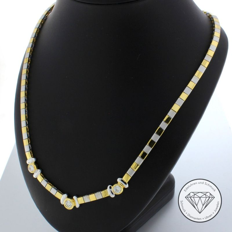 1,50 Carat Brillant Collier 44,5 cm