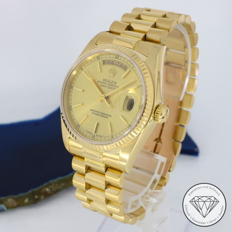 Rolex Day-Date Gold 36mm President Band 18038