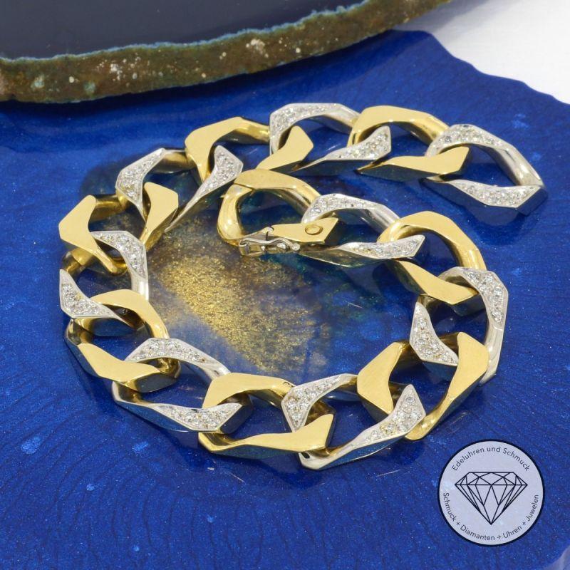 Massives Panzer Diamant Armband 0,50 Carat