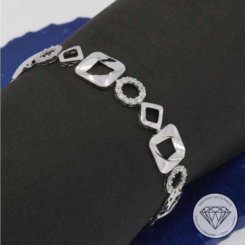 Zirkonia Designer Armband 16,5 cm