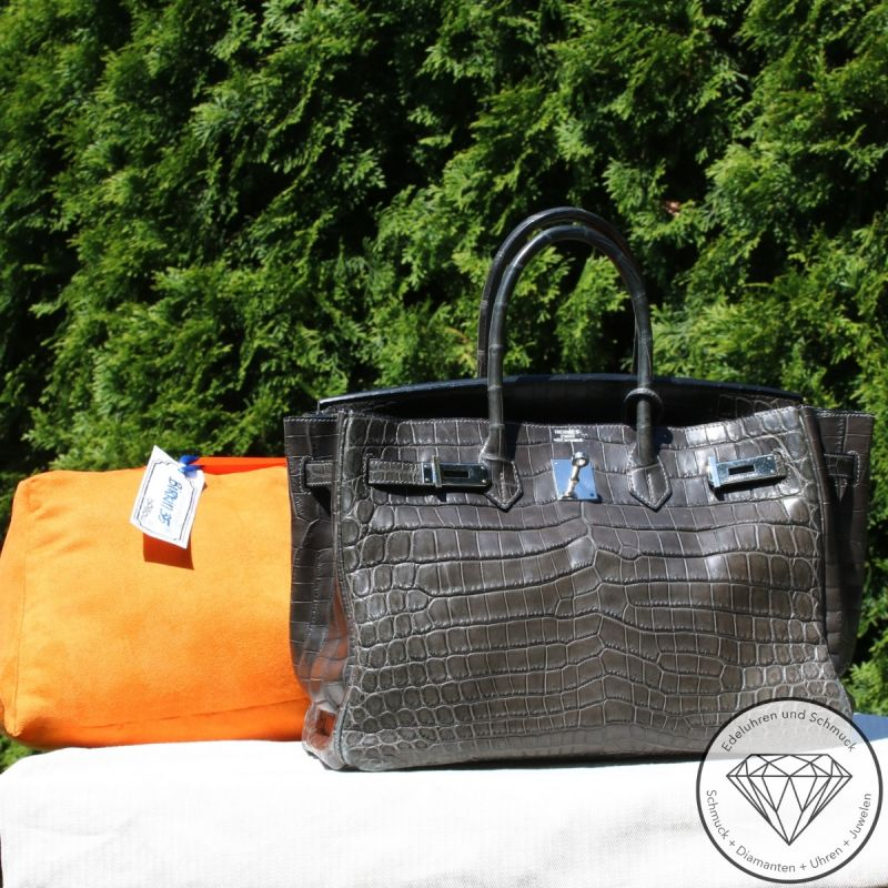 Hermès Birkin Bag 35 Krokodilleder