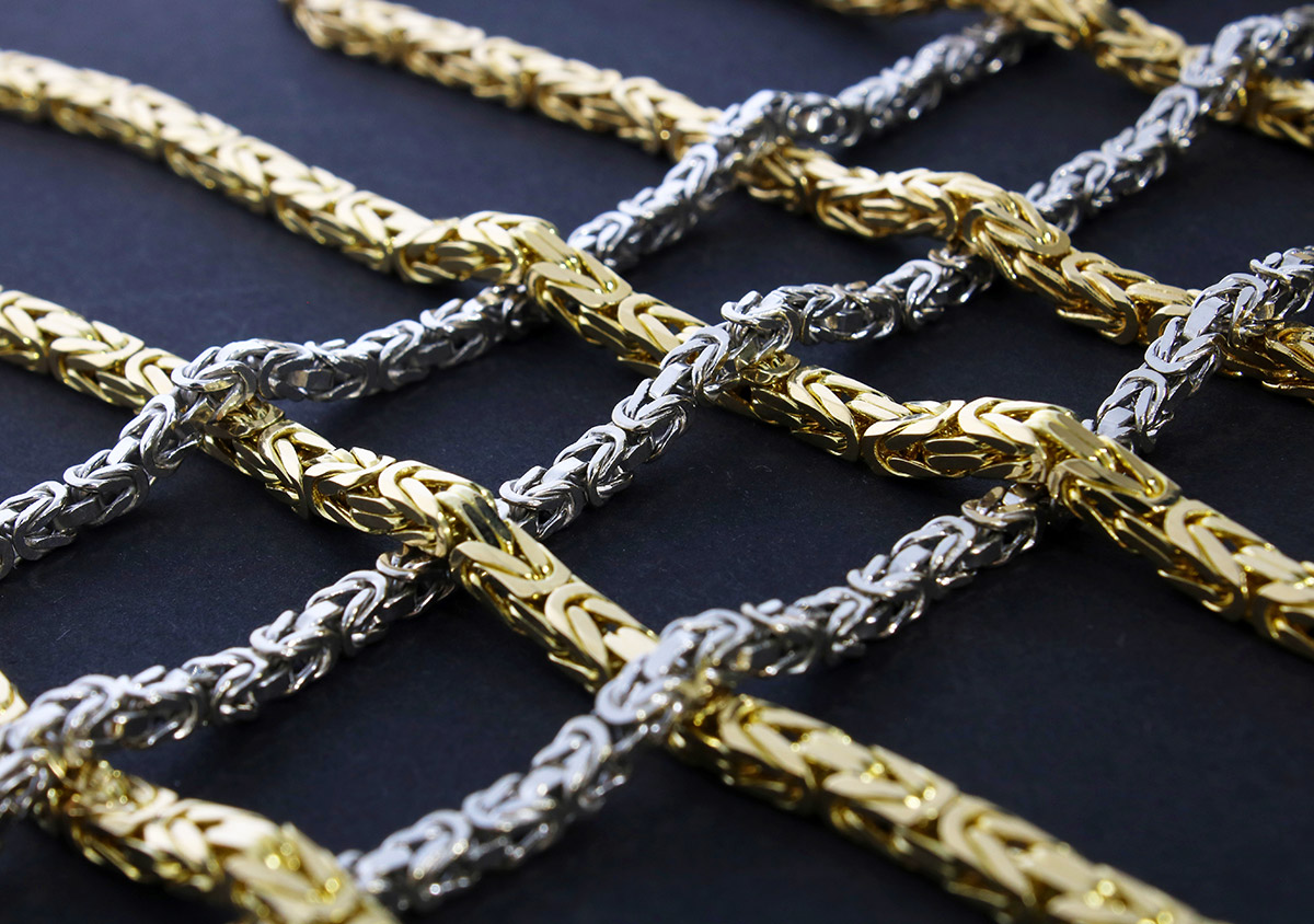 Königsketten, ein sehr beliebtes und außergewöhnliches Kettenmuster